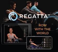 Regatta Fitness ad and logo